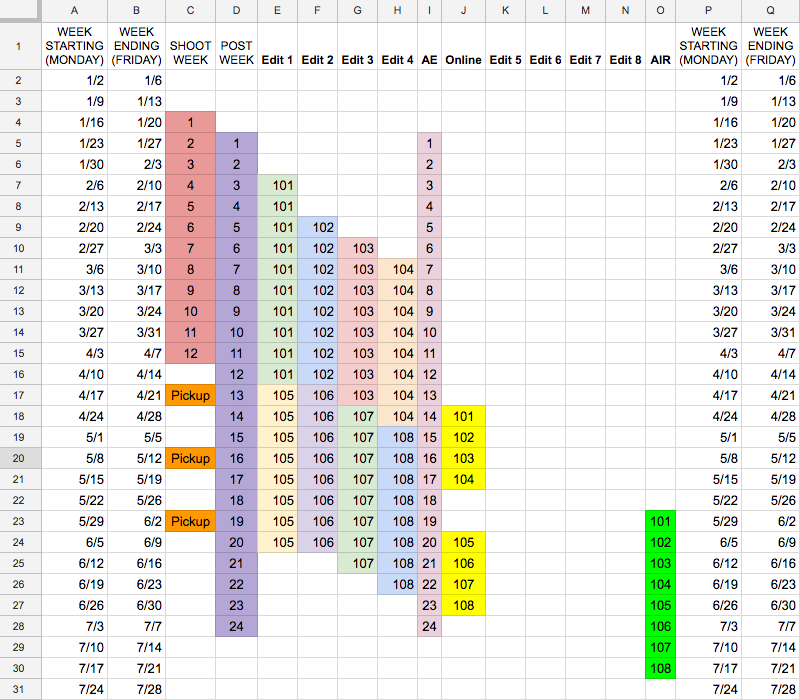 Linear Weeks Grid stacked