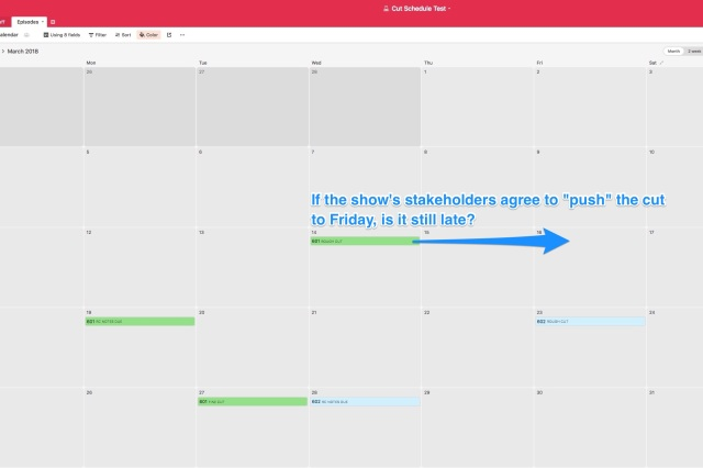 Cut Schedule Test Episodes - Airtable image 1