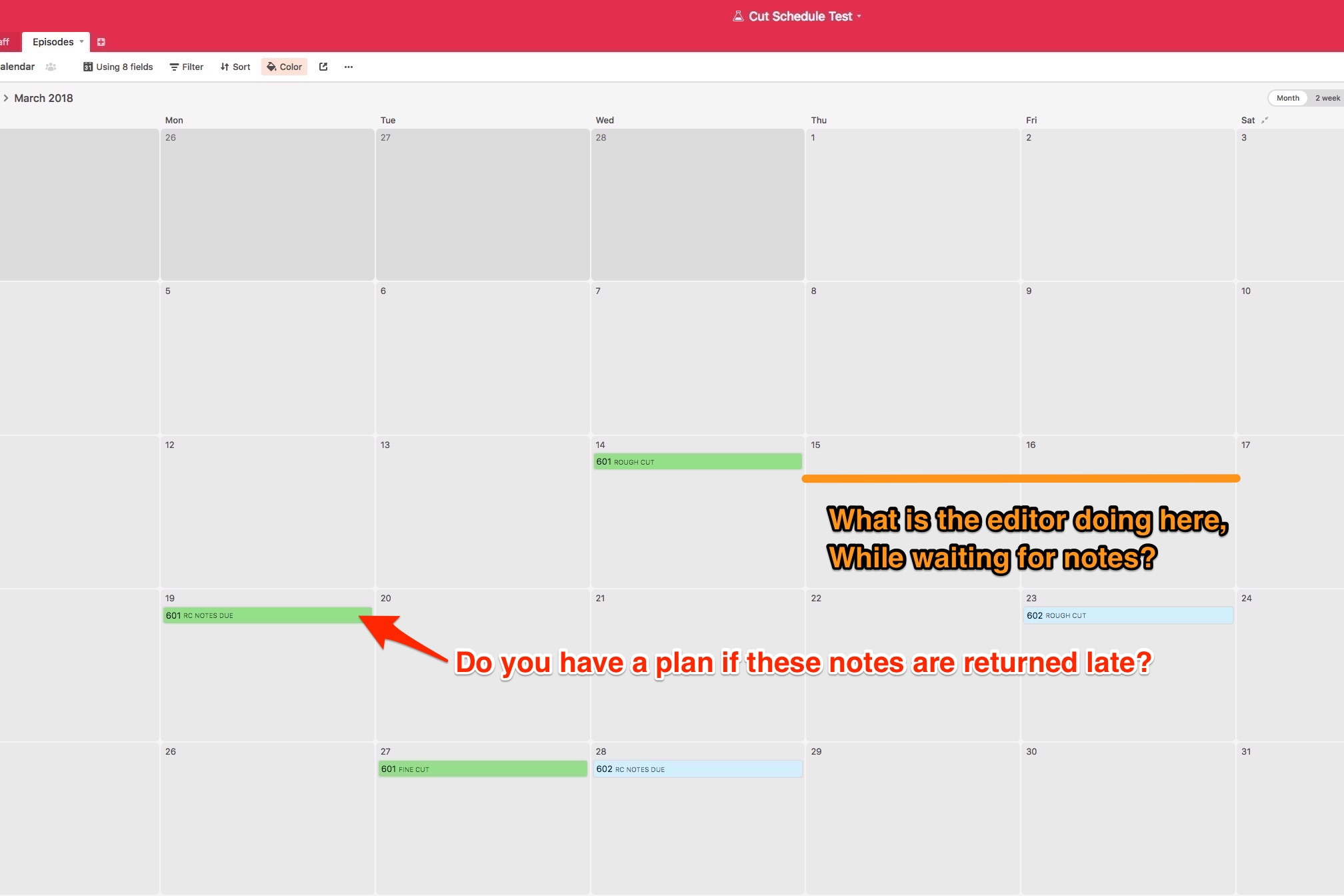 Cut Schedule Test Episodes - Airtable image 3